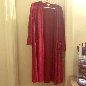 Red velvet LuLaRoe Sarah - S